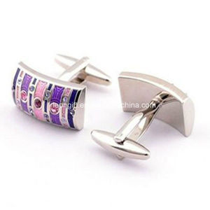 Customized Logo High Quality Blank Cufflink pictures & photos
