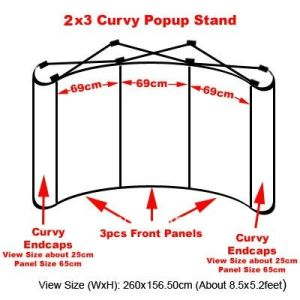 2X3 Curvy Shape Pop up Display Stand for Exhibition pictures & photos