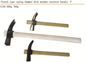 French Type Claw Hammer with Wooden Handle pictures & photos