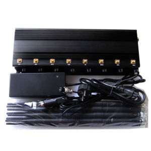 Adjustable 8 Antennas High-Power Lojack/WiFi/VHF/UHF Jammer pictures & photos