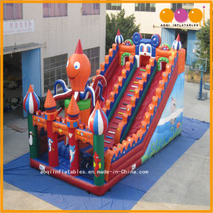Inflatable Jumping Toy Large Octopus Castle Slide for Sale (AQ09103) pictures & photos