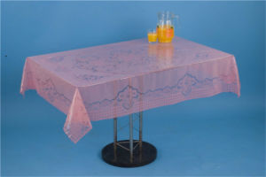120*152cm Clear PVC Printed Transparent Tablecloth of New All-in-One Design for Home/Party/Wedding pictures & photos
