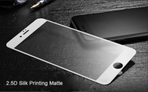2.5D Silk Printing Technology Delicate Matte Touch Toughened Glass Membrane for iPhone 7 pictures & photos