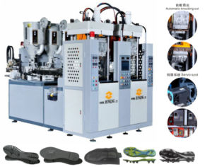 2 Station Double Color TR. TPU. PVC Soles Making Machine pictures & photos