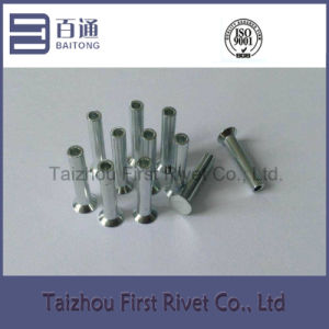 4.3X24mm White Zinc Plated Flat Countersunk Head Semi Tubular Steel Rivet pictures & photos