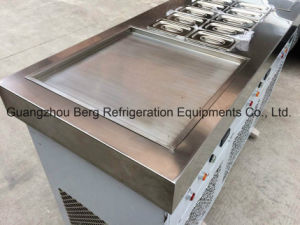Flat Double Pans Soft Ice Cream Roll Making Machine pictures & photos
