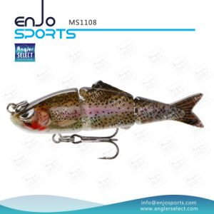 Multi Jointed Life-Like Fishing Lure Bass Bait Shallow Fishing Tackle Fishing Lures Swim Bait (MS1108) pictures & photos