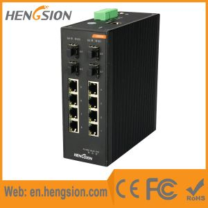 Managed 8 Ethernet +4 SFP Port Industrial Ethernet Switch pictures & photos