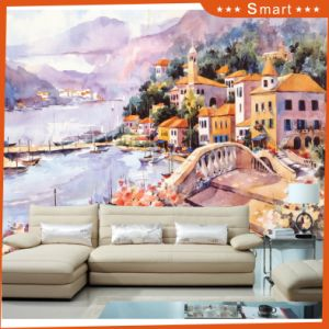 The Beautiful Greek Love Sea Town Scenery Painting for Home Decoration pictures & photos