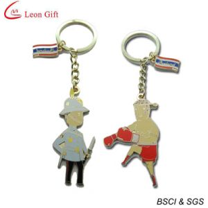Custom Hard Enamel Gold Metal Key Ring pictures & photos