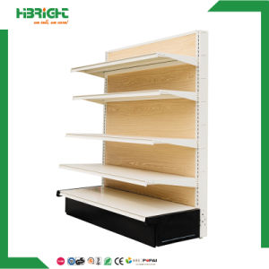 Shop Retail Metal and Wood Retail Floor Display Rack pictures & photos