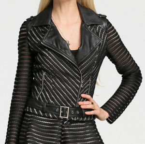 Fashion Cultivate One′s Morality Fake Leather Shorts Jacket Puj0710 pictures & photos