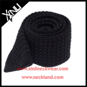 Perfect Knot 100% Silk Knit Black Necktie pictures & photos