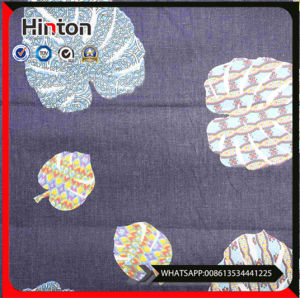 OEM Spandex Cotton Poly Woven Printed Denim Fabric for Lady Jeans pictures & photos