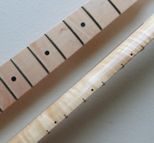 Unfinished One Piece Flamed Maple Tele Guitar Neck pictures & photos