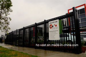 Haohan High-Quality Exterior Security Sliding Wrought Iron Fence Door 1 pictures & photos