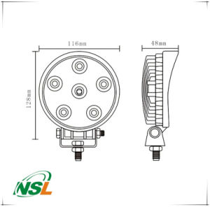 18W LED Round Flood/Spot Lamp Car Offroad Truck SUV 4WD Fog Driving off Auto Spare Parts, Waterproof 12V 24V Lighting Lamp pictures & photos