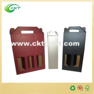 Customized Cardboard Wine Gift Box with Handle (CKT-CB-422) pictures & photos