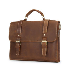 Business Travel Genuine Leather Men Handbags (RS- MS1767) pictures & photos