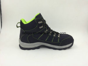 Comfortable and Soft High Cut Fabric Men′s Safety Shoes (16072) pictures & photos
