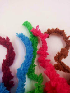 Half Velvet Feather Microfiber Fancy Hand Knit Crochet Knitting Yarn pictures & photos