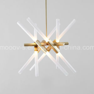 European Adjustable and Rotatable Transformers Metal Branch Glass Pipe LED Herringbone Fork Pendant Lamp pictures & photos