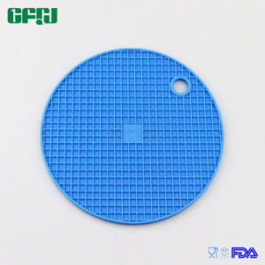 BPA Free Grid Pattern Round Shaped Food Grade Silicone Mat Tablemat Placemat Potholder pictures & photos