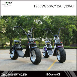 City Coco Electric Scooter for Adults 2 Big Size Wheels 12inch 1200W/60V/12ah pictures & photos