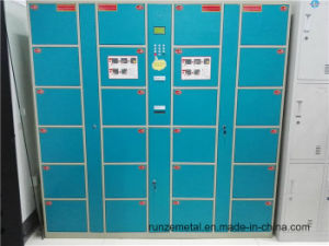 Supermarket Steel Electronic Barcode Parcel Locker pictures & photos