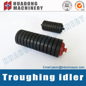 Rubber Covered ISO Standard Roller Idler for Coal Conveying System pictures & photos