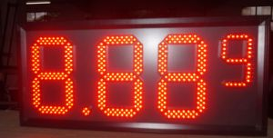 7mm Pixel 12 8′′ 8.889/10 Digital Numbers LED Gas/Oil/Petrol Station Price Display Sign Board Screen pictures & photos
