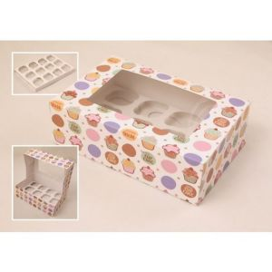 Custom Cake Box with Window Food Box Paper Packaging Box pictures & photos