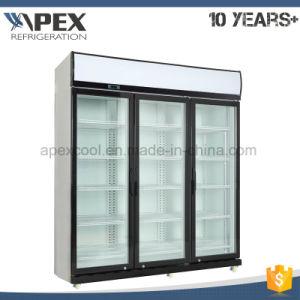 Triple Glass Door Energy Drink Refrigerator pictures & photos