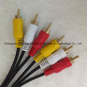 High Speed/Shielded 3r to 3r Audio/Video AV RCA Cable pictures & photos