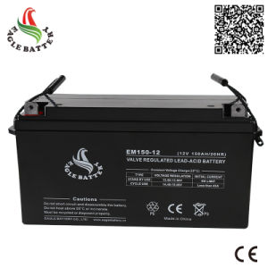 12V 150ah Sealed Rechargeable VRLA Battery for Solar Power pictures & photos