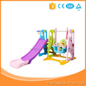 Indoor Mutifunction Playground Iron Pipe Long Slide and Swing for Kid D Series pictures & photos