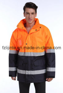 Winter Men Reflective Workwear High Visibility Safety Jacket pictures & photos