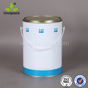 2.5L Round Metal Paint Tin Pail with Plastic Handle pictures & photos