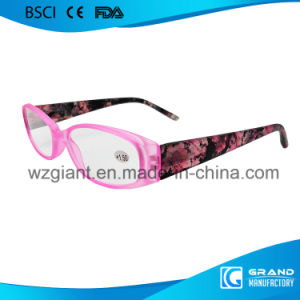 Chinese Culture Fancy Arm Unbreakable Lens Women Reading Glasses pictures & photos