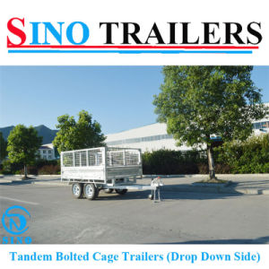 Heavy Duty Drop Down Side Box Trailers pictures & photos