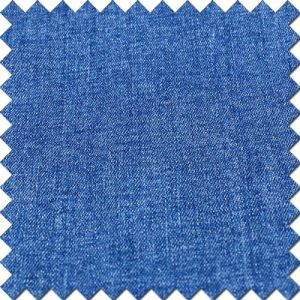 Blue High Stretch Cotton Viscose Spandex Denim Fabric