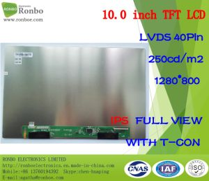 "10.1"" IPS 1280*800 Lvds 40pin 250CD/M2 Full View Customized LCD pictures & photos"