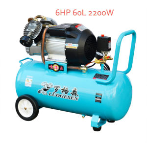 2200W 60L Industrial Portable Screw Piston Compressor pictures & photos