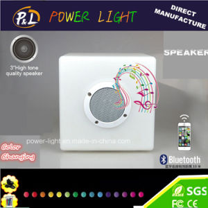 Bluetooth Control Music Playing Chair LED RGB Cube Lighting with Bluetooth Speaker pictures & photos