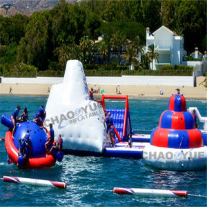 Three Colors PVC Floating Giant Inflatable Water Parks for Sea pictures & photos