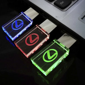 Crystal Transparent LED Light Metal USB Memory Stick Promotional Gift pictures & photos