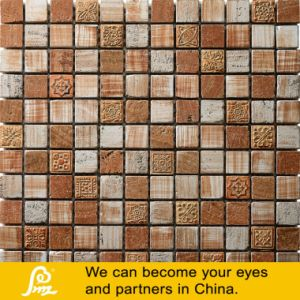 Golden and Brown Dubai Style Mosaic for Wall Decoration pictures & photos