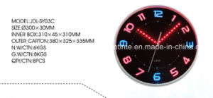 Wired Analog Clock with Luminous Emitting LED Light Digital Clock pictures & photos