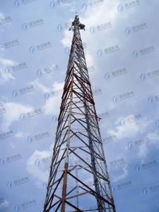 Communication Three-Leg Tube Tower