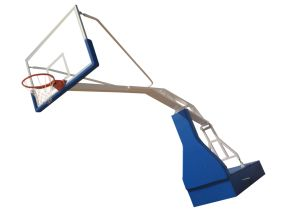 Standard Size Hydraulic Basketball Stand for Competition, Movable Basketball Stand pictures & photos